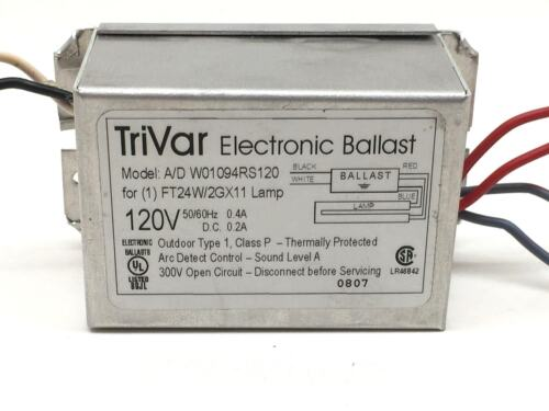 TriVar A//D W01094RS120 Electronic 120V Fluorescent Ballast for FT24W//2G11 Lamp