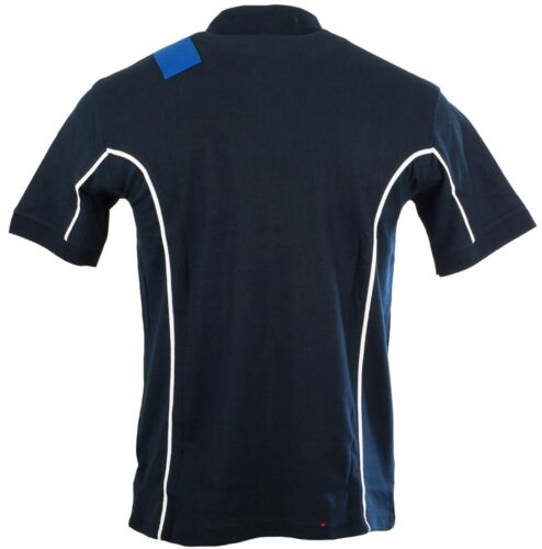 Gents Kennedy style rugby shirt marine-bleu royal Taille 2X-Large