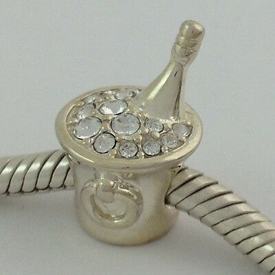 Authentic Chamilia Sterling Silver Celebration Crystal Bead Charm 2083-0229, New