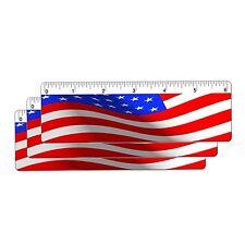 USA Flag Ruler Bookmark 6 In. Animated Lenticular 3 pcs #RU06-220I-S3#