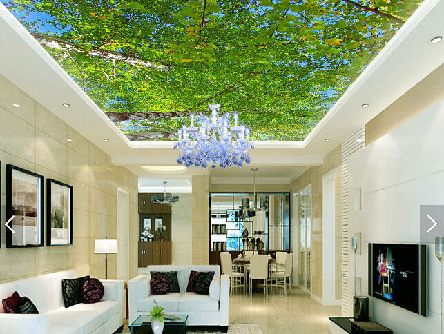 3D Grün Leaf Tree 8 Ceiling WallPaper Murals Wall Print Decal Deco AJ WALLPAPER