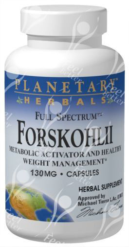 Full Spectrum Coleus Forskohlii / Forskolin 130mg x60caps - GLAUCOMA / PSORIASIS