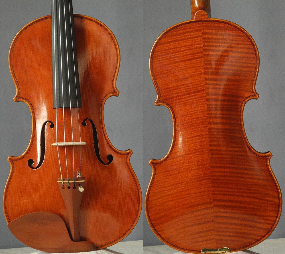 Meister handgefertigte Geige Stradivara Geige 4 4, beeindruckendes Saiteninstrument