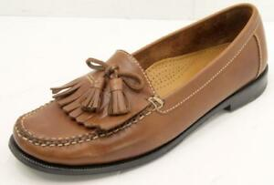 07671c2a805 Cole Haan Dwight Saddle Tan Leather Kiltie Tassel Slip On Loafers ...
