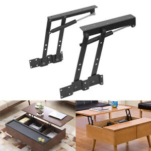 Details about Lift Up Top Coffee Table Lifting Frame Mechanism Furniture  Gas Hydraulic Hinges