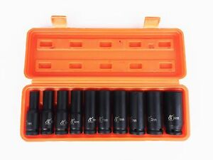 "10pc 1/2"" Deep Impact Socket Set."