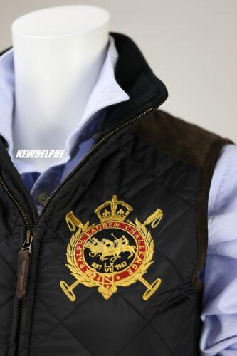 veau Ralph Veste bordure cuir spécial pour matelassée en patch avec Polo Nwt Lauren femmes et S6wUnqRUxB
