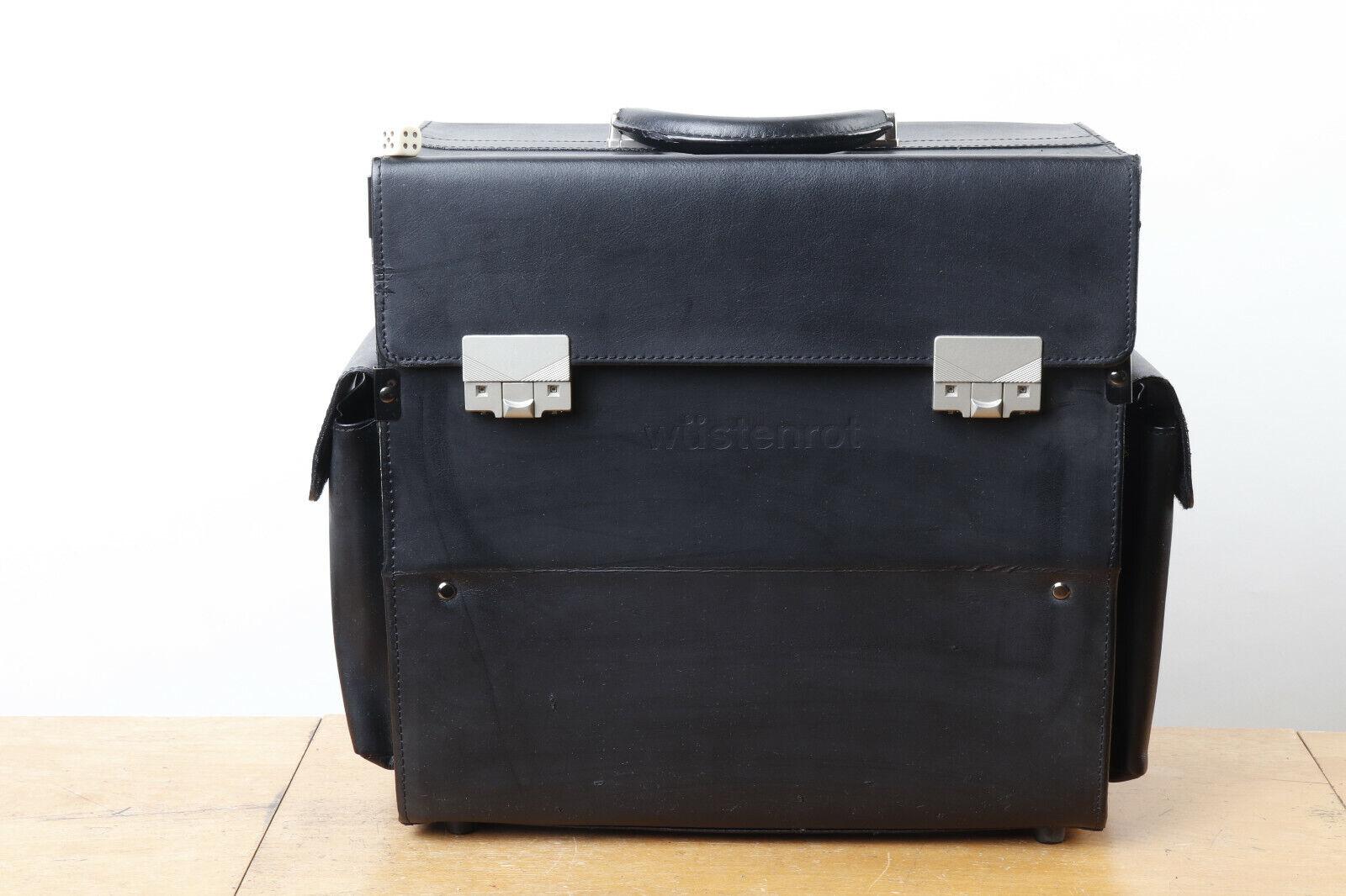 Pilotenkoffer, Leder, für Laptop, Ordner u. v. mehr,  Wüstenrot , ca.37x37x19cm | ein guter Ruf in der Welt  | Viele Stile  | Ausgewählte Materialien