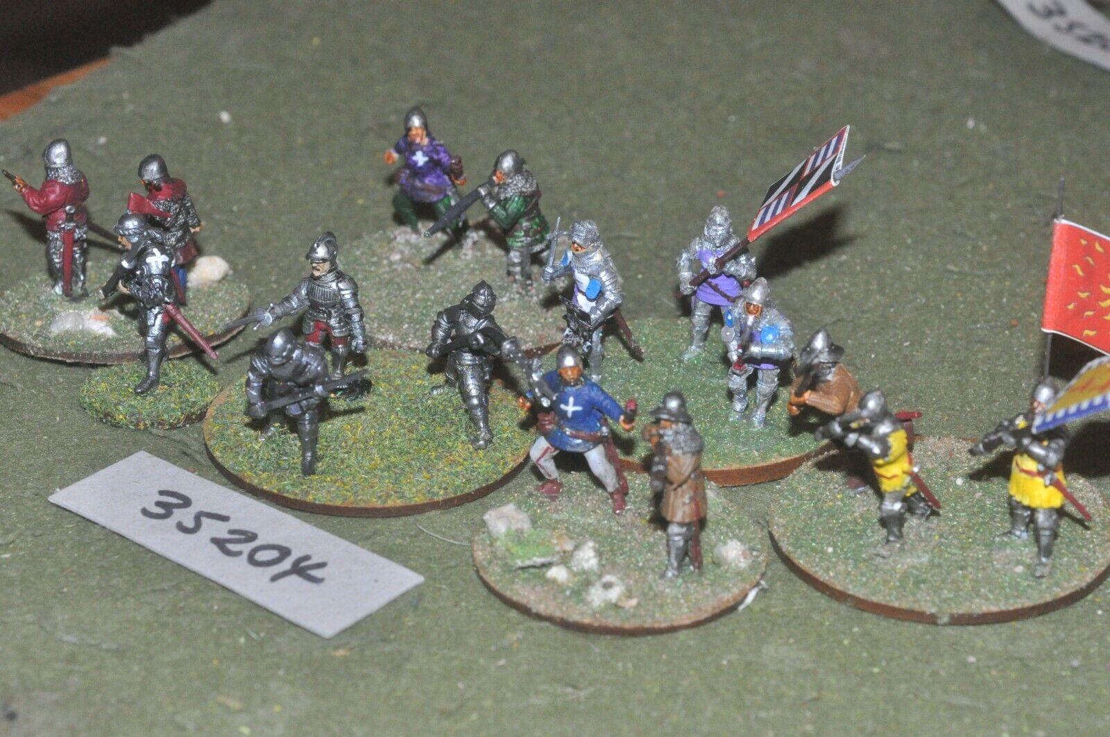 25mm medieval   burgundian - men at arms (plastic) 16 figures - inf (35204)