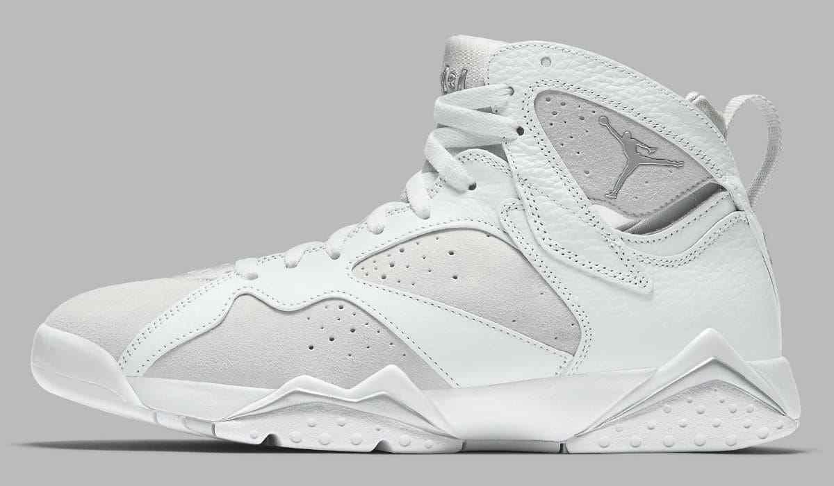 Air Jordan VII 7 Retro Size 13. White Silver Pure Money Platinum. 304775-120.