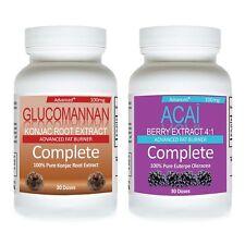 Fiber Glucomannan 100% Natural Konjac PLUS ACAI BERRY CLEANSE WEIGHT LOSS DIET