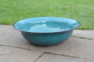 old-white-enameled-washing-bowl-bath-enamel-40-cm-FREE-POSTAGE