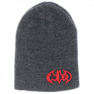 dacd23d6716 Image is loading Harley-Quinn-Patch-Shield-Marled-Slouch-Beanie-Skull-