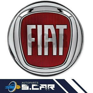 FREGIO LOGO STEMMA EMBLEMA FIAT ROSSO 95 MM ANTERIORE 500 PANDA GRANDE PUNTO