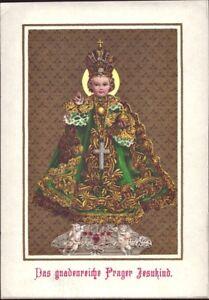 Prag-Jesus-Nino-Cuadro-Santos-Amria-Imagen-Milagrosa-Bohemia-Koloriert-B-6635