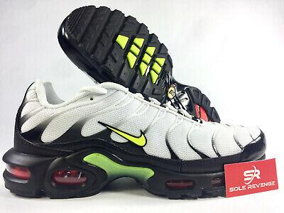New Nike Air Max Plus White/Volt/Black