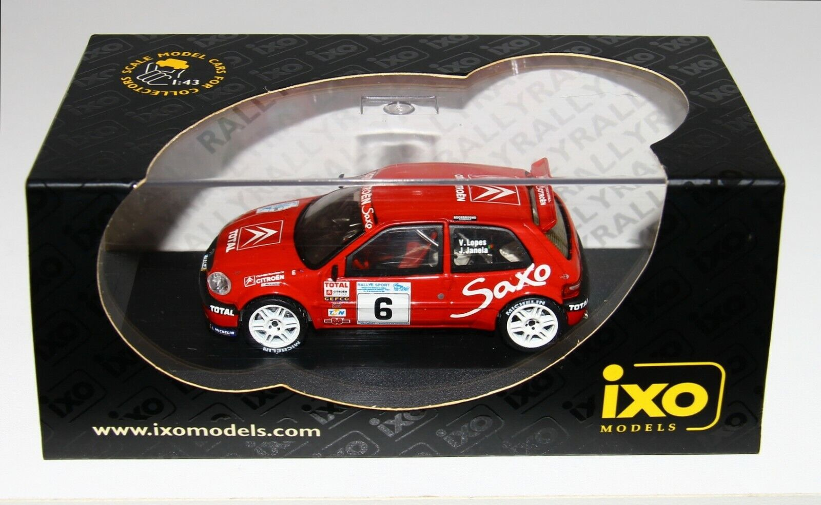 Ixo Limited 1 43 Citroen Saxo S1600 Kit Coche rojoa do Dao Rallye 2001 Lopes RARE