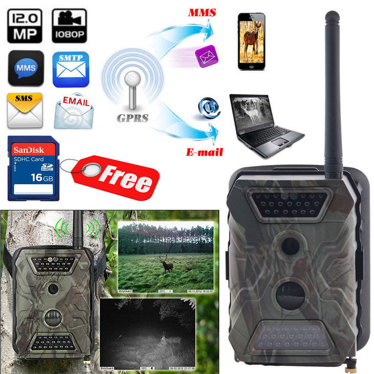 16GB 12MP HD Audio MMS GPRS Trail Hunting Camera AcornGuard AG-680M Farm Cam NEW