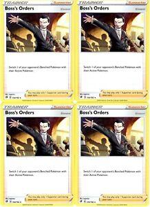 Pokemon-Trainer-Card-Set-Boss-039-s-Orders-154-192-Rebel-Clash-Non-Holo-Cards