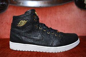 1f0ff0dba96 WORN 2X Nike Air Jordan 1 Pinnacle Black Metallic 24k Gold 705075 ...