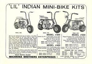 Vintage Rare 1965 Lil Indian Models 300 400 500 Mini Bike Ad Ebay