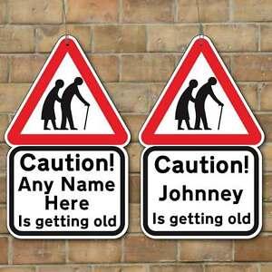 Personalised Joke Old People Sign Old People Crossing Sign Mini Joke Sign Gift