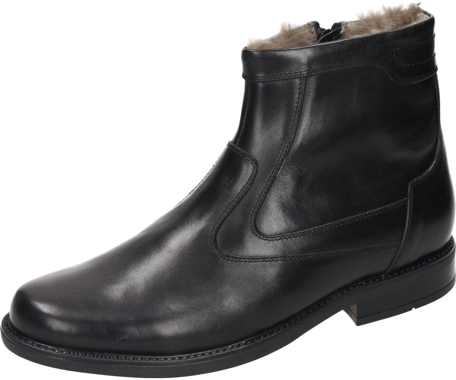 Comfortabel Herren Schuhe Herren-Stiefel schwarz Leder NEU