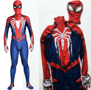 New Game PS4 INSOMNIAC Spiderman Spidey Costume Suit Halloween