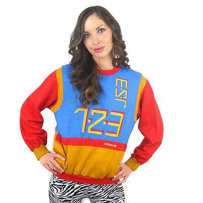 Vintage ADIDAS Shirt 1980s Sweat Shirt Run Dmc futbol Soccer Rap Hip Hop Rare | eBay
