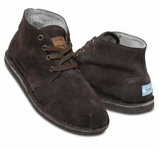 Toms Mens Desert Botas Shoes Suede Brown Suede Size 9