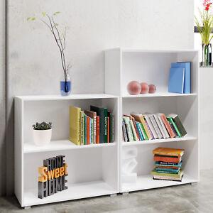 Set-d-039-etageres-2-3-compartiments-bibliotheque-Vela-meuble-blanc-profondeur-31-cm