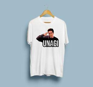 7f566bb7e Unagi Friends TV Show Graphic Tee Ross Shirt Unisex Short Sleeve ...