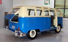 VW Split Screen Samba Blue T1 Camper Campervan Van Bus Maisto 1:24 Scale Model