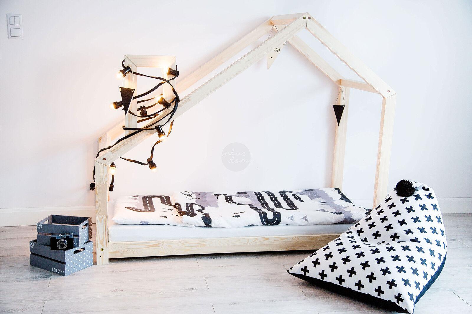 Maison en bois Lit pour enfants Talo d4 80x190 cm