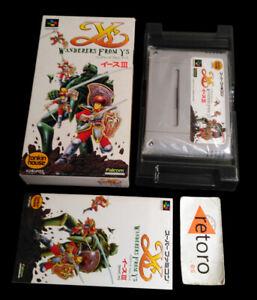 YS-III-WANDERERS-FROM-YS-Super-Famicom-Nintendo-SNES-SFC-Japones-Complete