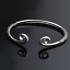 lovely-Women-925-Sterling-Silver-Hoop-Sculpture-Cuff-Bangle-Bracelet-Wristband thumbnail 2