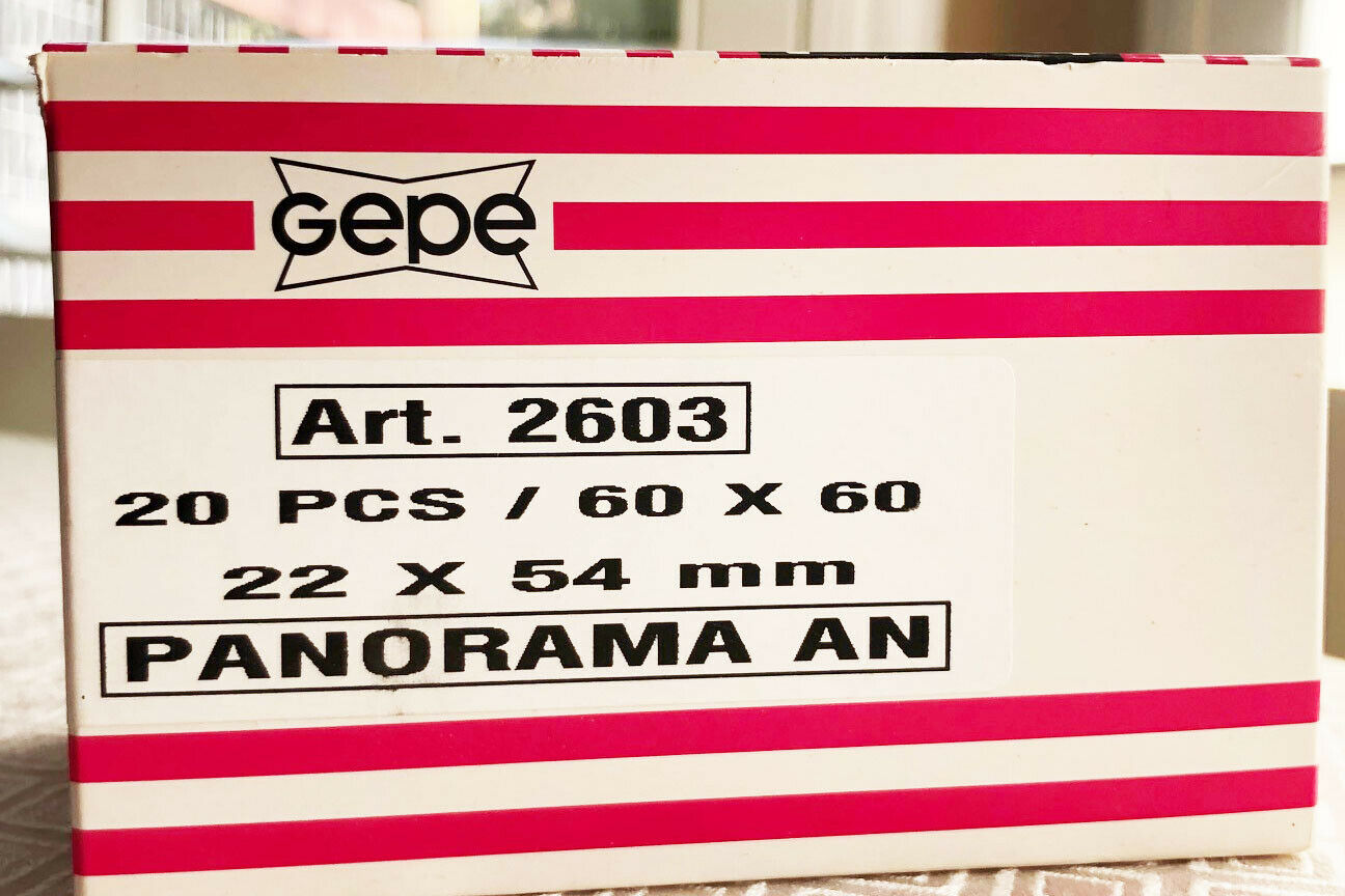 Gepe 35mm Panorama AN Transparency Mounts - Box of 20 - New. For Xpan or Widelux