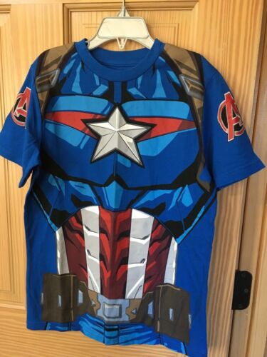 NWT Disney Store Parks Captain America T Shirt Boy Avengers costume S M L