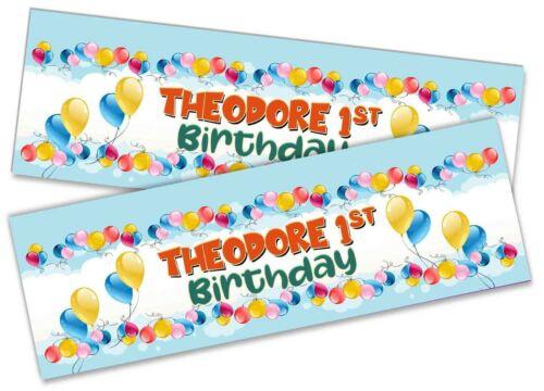 Details about  /x2 Personalised Birthday Banner Toddler Design Children Kids Decoration 11