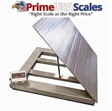 Dwp 5000swf Stainless Steel Washdown Flip Top 4x4 Floor Scale Drum Scale