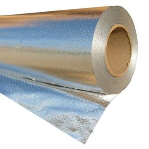 2'x25' Radiant Barrier Solar Attic Perforated Foil Reflective Insulation