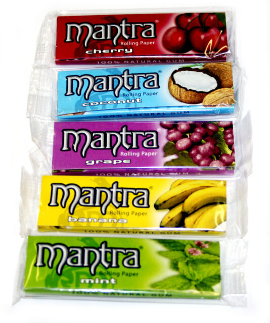 5 Booklets X Mantra Mixed Flavors 1 1/4 Smoking Cigarette Rolling Paper