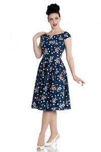 Hell-Bunny-Salina-Rockabilly-50-039-s-Retro-Vintage-Swing-Pinup-dress-2XL-4XL