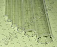 2 Pc 38 Od X 14 Id X 24 Inch Clear Acrylic Plexiglass Lucite Thin Wall Tube
