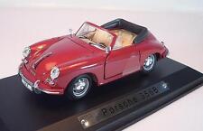 Atlas 1/43 PORSCHE 356b Cabrio Rosso IN PLEXIGLAS-BOX #1473