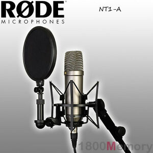 rode nt1 a studio microphone mic bundle complete home recording package ebay. Black Bedroom Furniture Sets. Home Design Ideas