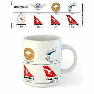 Qantas-Logos-Through-The-Years-Mug-x-2-BRAND-NEW-Set-of-2-Mugs