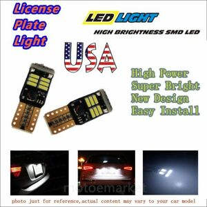 US-Car-LED-T10-192-License-Plate-Light-No-Error-168-W5W-Lamp-4014-18SMD-194-Bulb