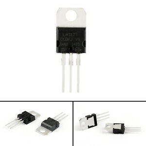 10Pcs-LM317T-LM317-Voltage-Regulator-1-2V-to-37V-1-5A-TO-220-IC-Chips-SS