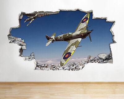 Z070 spitfire hurricane avion armée garçons applique murale poster 3D art stickers